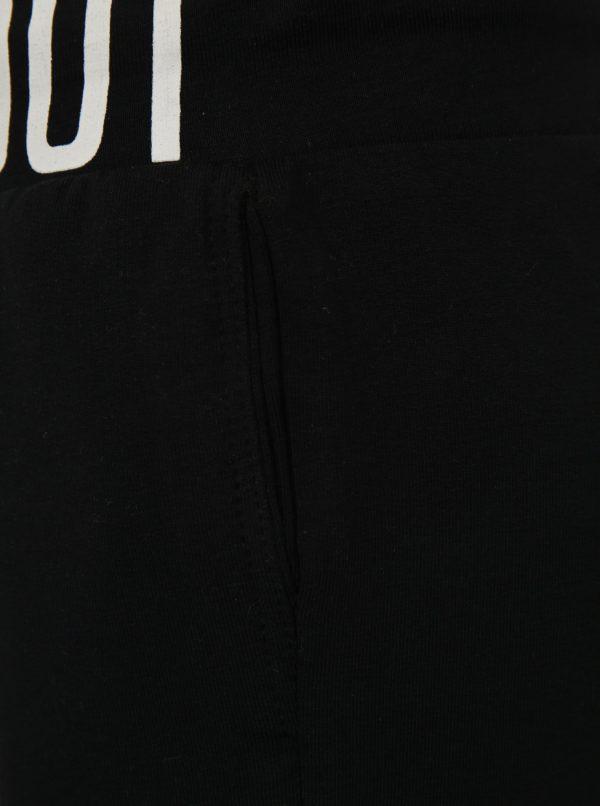 Čierno-biele chlapčenské tepláky Mix´n Match