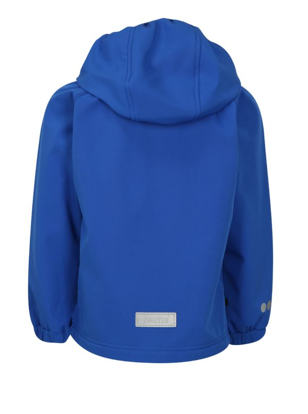 Modrá chlapčenská softshellová vodovzdorná bunda s kapucňou Reima Vantti