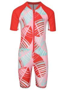 Červeno–ružový dievčenský plavkový overal Reima Galapagos