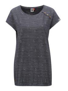 Tmavosivé dámske pruhované tričko Ragwear Taby