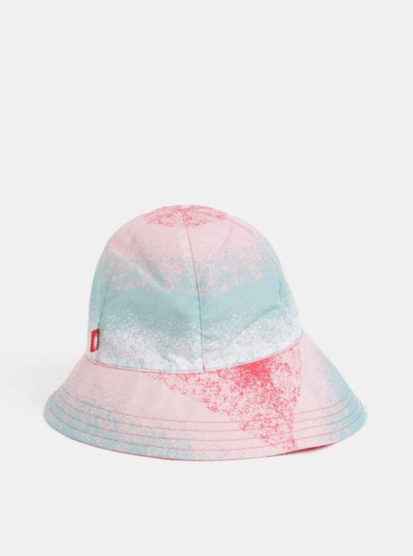 Mentolovo–ružový dievčenský obojstranný klobúk Reima Viiri