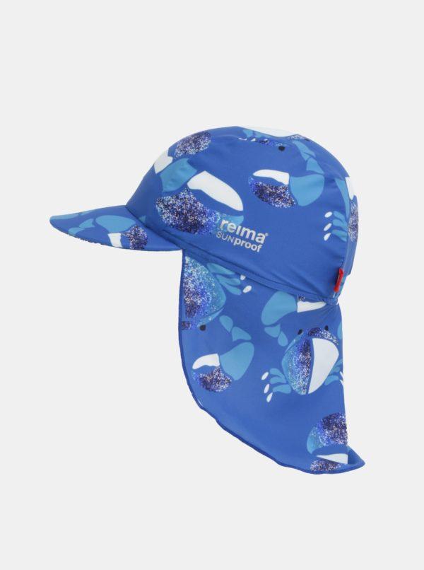 Modrá chlapčenská vzorovaná čiapka proti slnku Reima Turtle