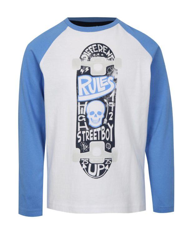 Modro-biele chlapčenské tričko s motívom skateboardu Mix´n Match