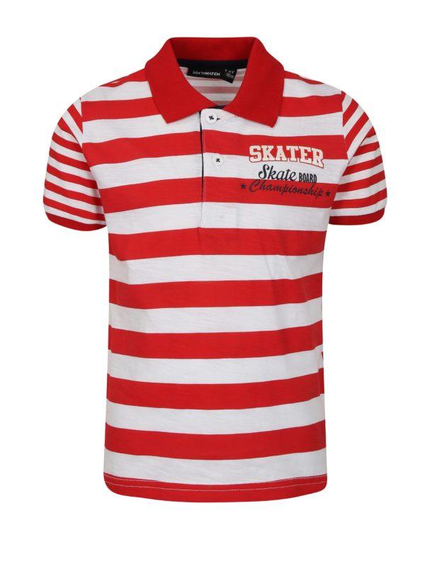Bielo-červená chlapčenská pruhovaná polokošeľa Mix´n Match