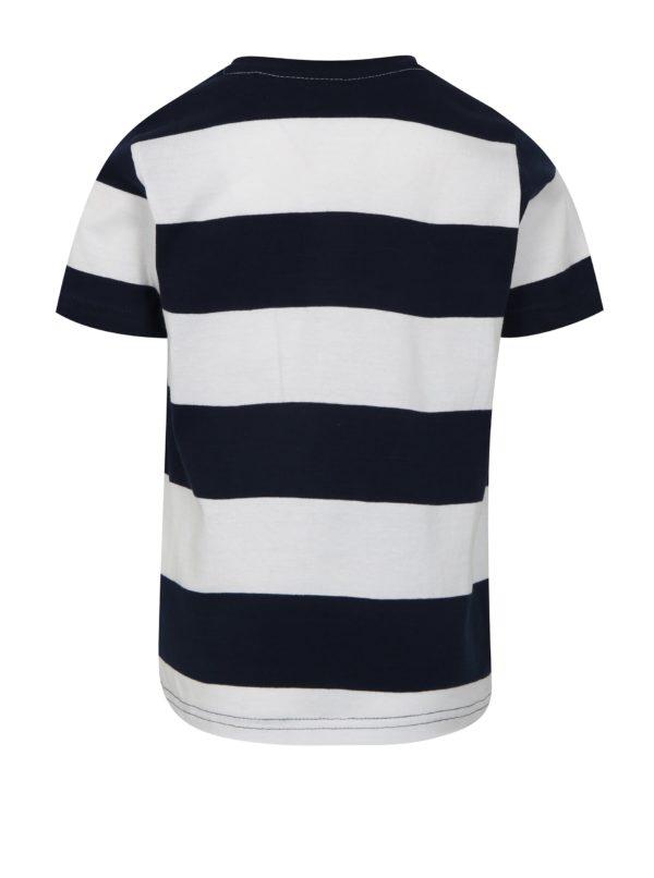 Modro-biele chlapčenské pruhované tričko Mix´n Match