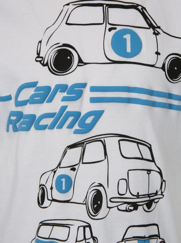 Biele chlapčenské tričko s motívom áut Mix´n Match