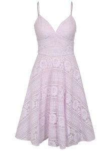 Svetlofialové čipkované šaty Chi Chi London Nadina