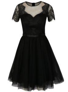 Čierne čipkované šaty Chi Chi London Siman