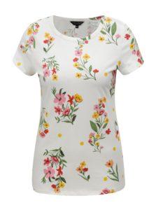 Krémové kvetované tričko Dorothy Perkins
