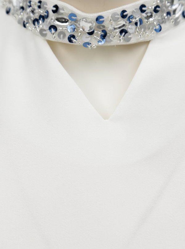 Biela blúzka s chockerom Dorothy Perkins Petite