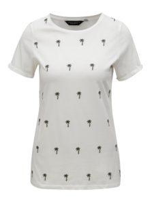 Krémové tričko s výšivkou paliem Dorothy Perkins