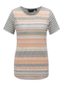 Sivo-ružové pruhované tričko Dorothy Perkins