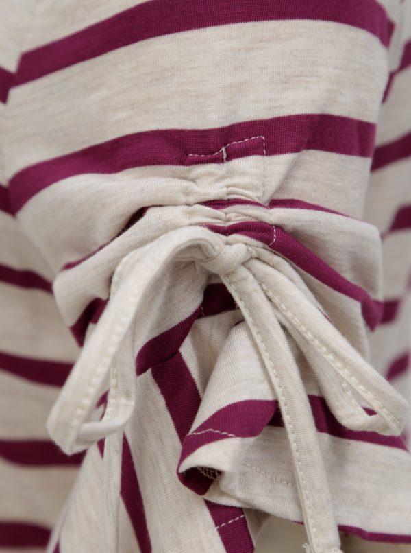 Béžovo-fialové pruhované tričko Dorothy Perkins