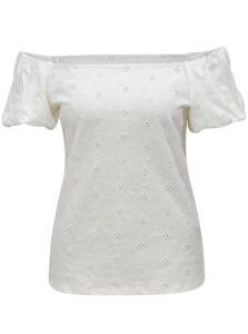 Krémové tričko s odhalenými ramenami Dorothy Perkins