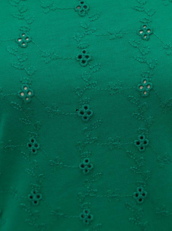 Zelené tričko s odhalenými ramenami Dorothy Perkins