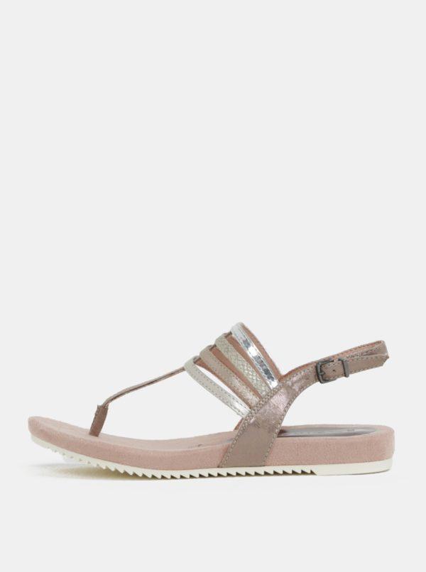 Béžovo-ružové sandále Tamaris