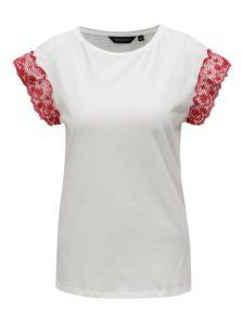 Biele tričko s volánmi na rukávoch Dorothy Perkins