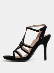 10c3aef5b527 Čierne semišové sandále Tamaris