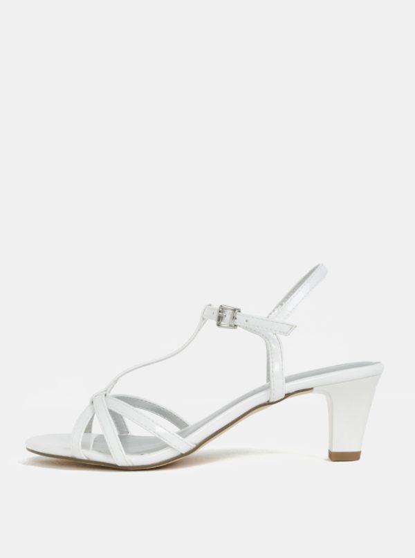 Biele sandále na nízkom podpätku Tamaris