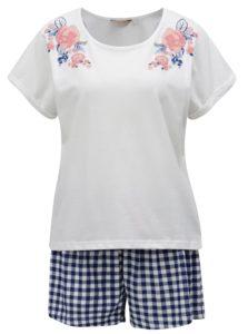 Modro-krémové pyžamo Dorothy Perkins Sleepwear