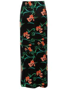 Čierna kvetovaná maxisukňa Dorothy Perkins