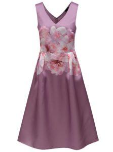Fialové kvetované šaty Dorothy Perkins