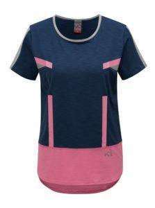 Modro-ružové tričko Kari Traa Anita Tee