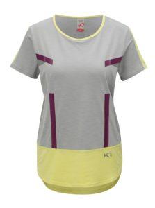 Sivo–žlté tričko Kari Traa Anita Tee