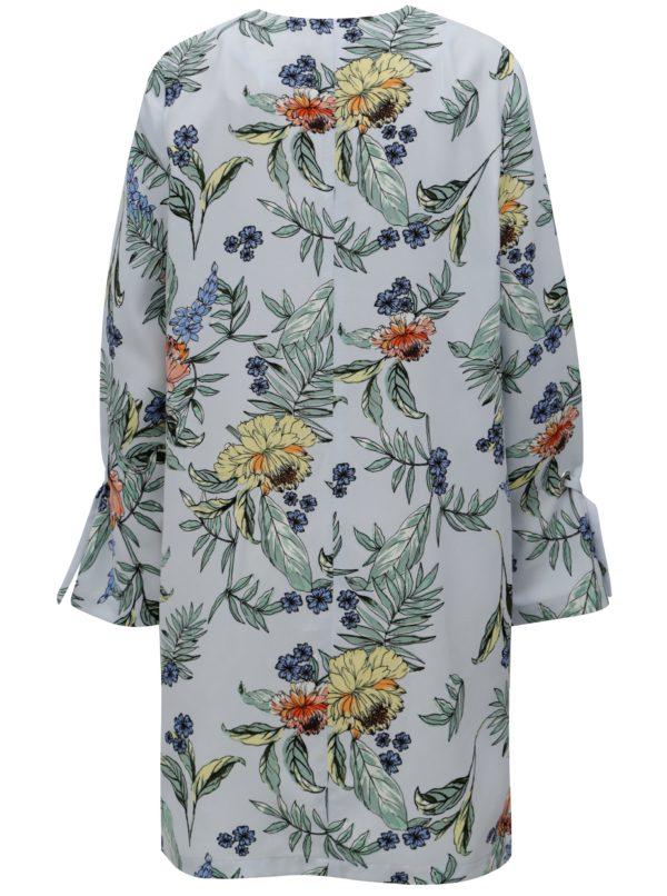 Svetlomodrý kvetovaný tenký kabát Dorothy Perkins Curve