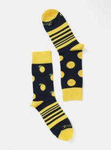 Žlto-modré unisex ponožky s motívom citrónov Fusakle Citronáda