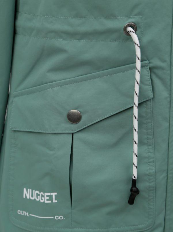 Zelená dámska vodeodolná parka NUGGET Meda