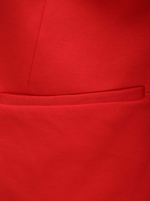 Červené sako s 3/4 rukávmi Miss Selfridge