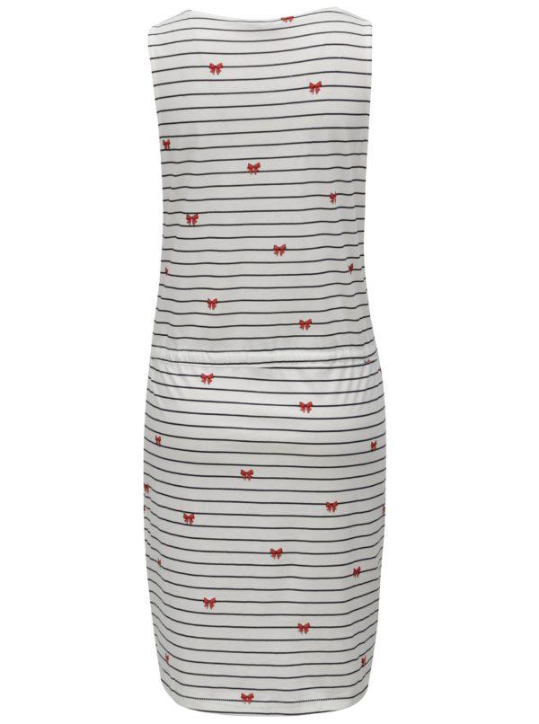 Biele pruhované šaty s potlačou ONLY May