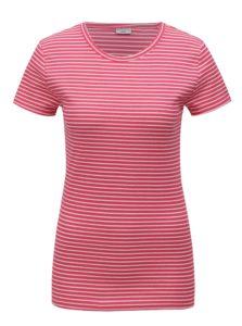 Ružové pruhované tričko Jacqueline de Yong Christine