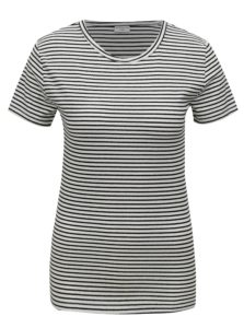 Čierno-biele pruhované basic tričko Jacqueline de Yong Christine