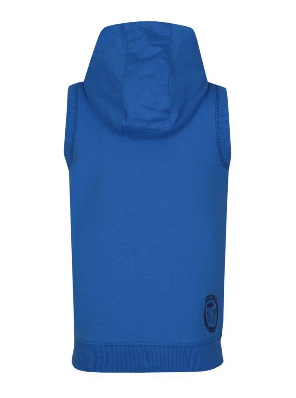 Modrá chlapčenská mikinová vesta s kapucňou LOAP Hytek