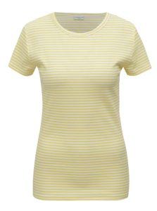 Bielo-žlté pruhované tričko Jacqueline de Yong Christine