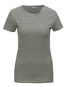 Svetlo-zelené pruhované basic tričko Jacqueline de Yong Christine