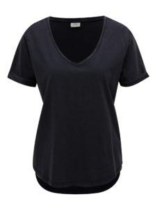 Tmavomodré basic tričko Jacqueline de Yong Darry