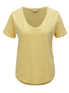 Žlté oversize tričko Jacqueline de Yong Darry