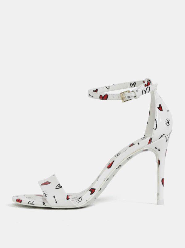 Biele vzorované sandálky ALDO Cally