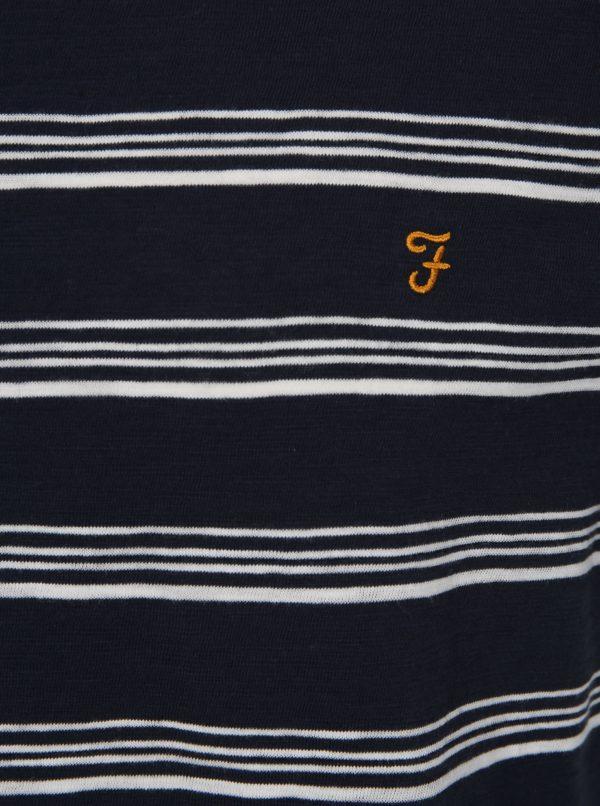 Tmavomodré pruhované tričko Farah Regis