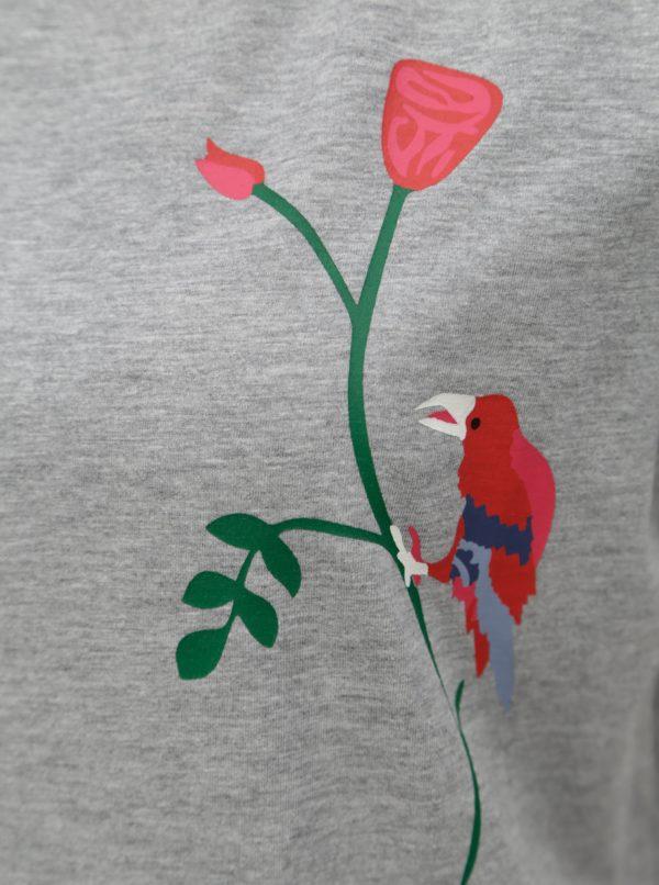 Sivé tričko s potlačou Jacqueline de Yong Nixon