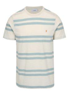 Krémovo-mentolové pruhované tričko Farah Hewitt