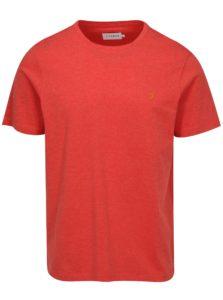 Červené melírované basic tričko Farah Denny