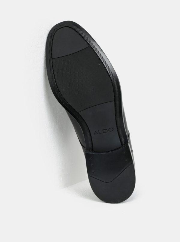 Čierne pánske kožené poltopánky ALDO Ricmann