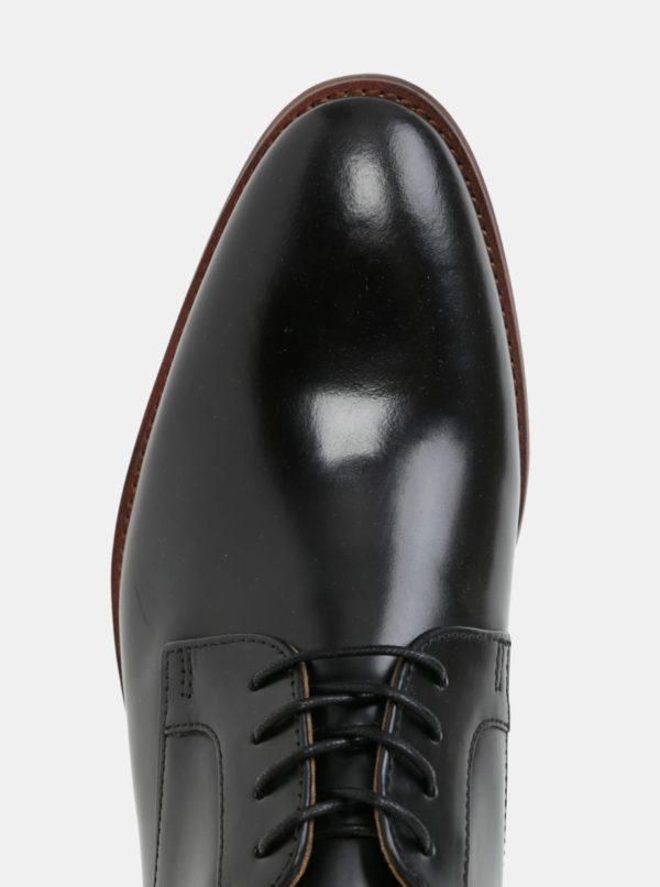 Čierne pánske kožené poltopánky ALDO Yilaven