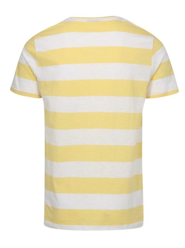 Bielo-žlté pruhované tričko ONLY & SONS Dontell