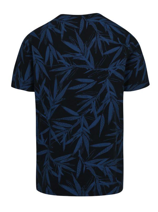 Tmavomodré vzorované tričko ONLY & SONS Chris
