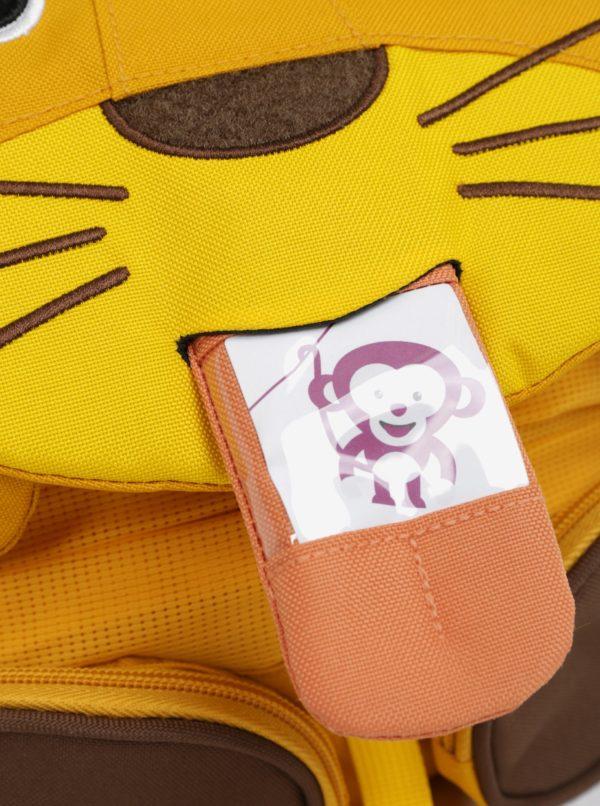 Žltý batôžtek v tvare tigra Affenzahn 8 l